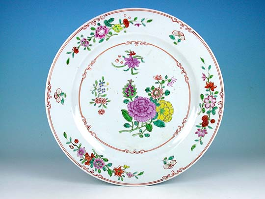 Cleij Oriental Art Large Chinese Famille Rose Plate With